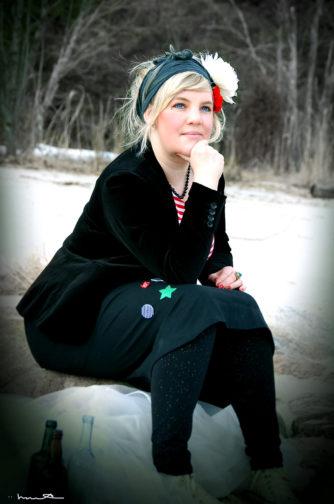 Hanna började upptäcka trolleriet i Hälsingeskogarna. Foto: Hanna Ädel