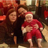 Så här glad var lille Melchior när familjen Blom besökte oss i julas. FOTO: Arne Nilsson