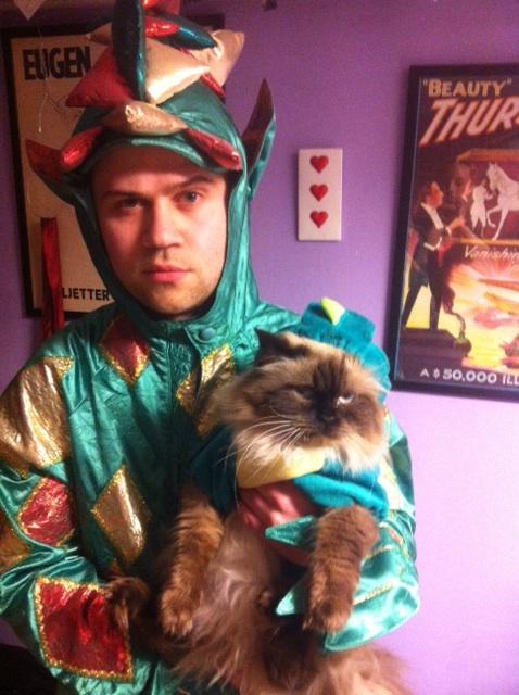 Trollkarl med trollhund